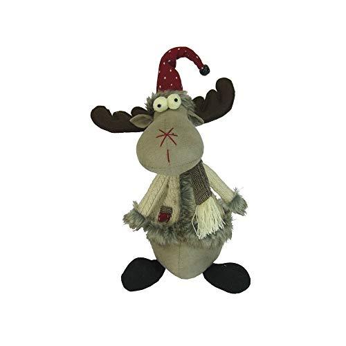 Weihnachtsfigur Elch 35 cm groß Weihnachtsdeko Xmas Figur Dekofigur für Weihnachten Weihnachtselch Elchfigur Dekoelch