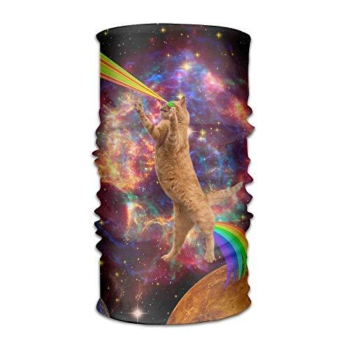 Nifdhkw Space Lazer Rainbow Cat Headwear for Men And Women-Yoga Sports Travel Workout Wide Headbands,Neck Gaiter,Bandana,Helmet Liner,Balaclava,Hair Turban,Scarf Fashion13