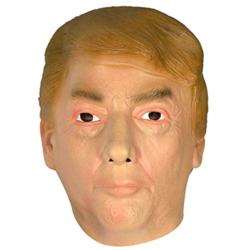 Jamron Realista Celebridad Mascara de Latex US Presidente Poltico Donald Trump Halloween Mscara Disfraz con Pelo SN07755 Trump-2