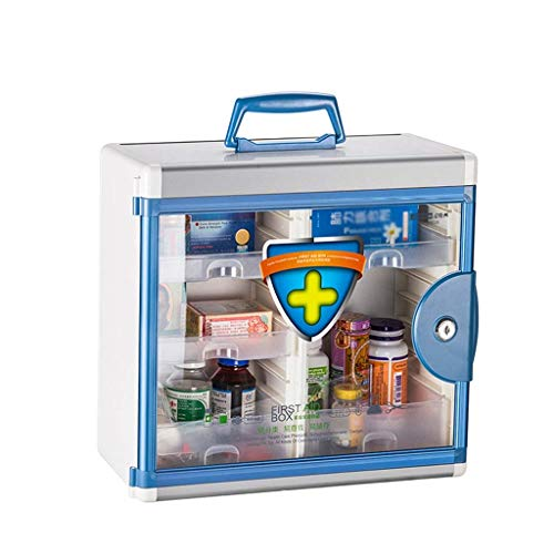 Busirsiz First Aid Box First Aid Box Wall Mounted Medical Box, Pharmacy, Aluminium Combination Key Cabinet + Glass Door Lockable Housewares First Aid Box,Nurse Offices