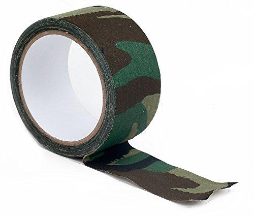 wildlifephotographyshop Army DPM Telo Mimetico Tessuto Nastro Adesivo. 10m x 50mm Tape Camouflage
