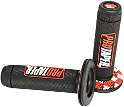 Dirt Pit Bike Grips rubber Pro Taper Full Diamond pattern Fit 7/8' standard handbar Orange