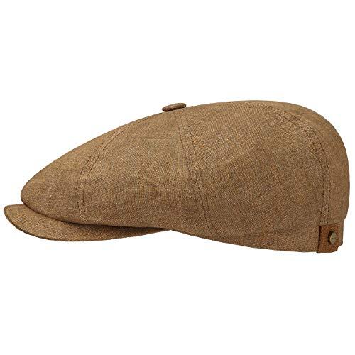 Stetson Hatteras Gorra plana de lino para hombre y mujer, con forro...