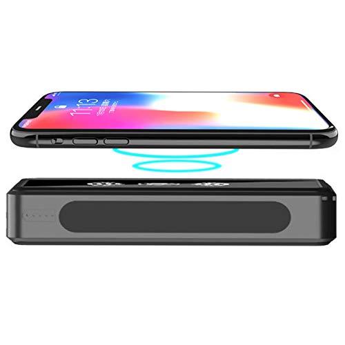 Cargador Solar 50000Mah, Solar Power Bank con 4 Puertos USB, Batería Externa Solar con LED Linterna Cargador Portatil Inalámbrico con Tecnología De Detección Automática para Phones, Tabletas
