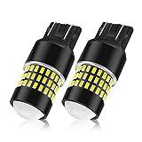 LncBoc 7440 Ampoules LED W21W 78SMD 3014 Avec Lentille de Projecteur Super Lumineux 1800LM Pour Voiture Auto Parking Reverse Feux Xenon Blanc 6500K 2PCS