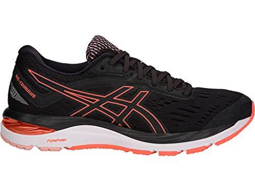 ASICS Women's Gel-Cumulus 20 Running Shoes, 7.5M, Black/Flash Coral