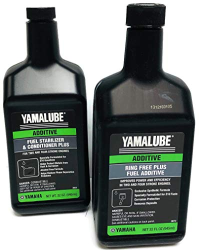 SENECA Marine Yamaha Yamalube Boat & Outboard Fuel Treatment Combo Kit - 1 - ACC-RNGFR-PL-32 Ring Free Plus Fuel Additive & 1- ACC-FSTAB-PL-32 Fuel Stabilizer Plus