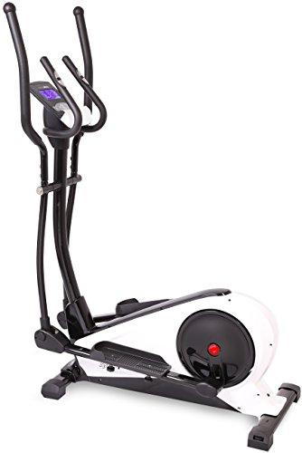 SportPlus Crosstrainer mit App-Steuerung, Google Street View, Wattanzeige, ca. 18kg Schwungmasse, 24 Widerstandsstufen, Handpulssensoren, Nutzergewicht bis 130kg, Sicherheit geprüft