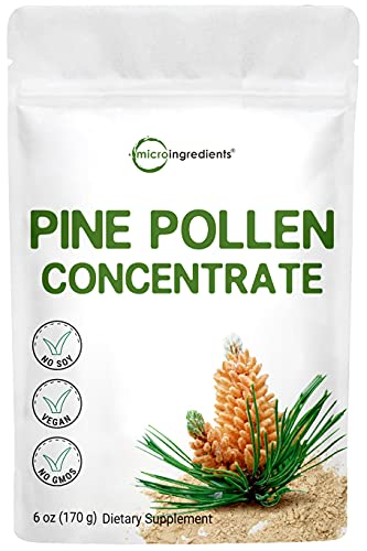 Pure Pine Pollen Powder, 6 Ounce, Supports Immune System Health, Boosts Energy, Antioxidant and Androgenic, No GMOs and Vegan Friendly