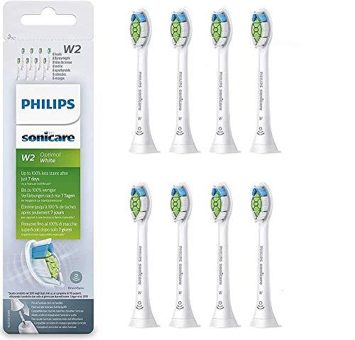 potente para casa Accesorio de cepillo de dientes eléctrico Philips HX6068, blanco, paquete de 8