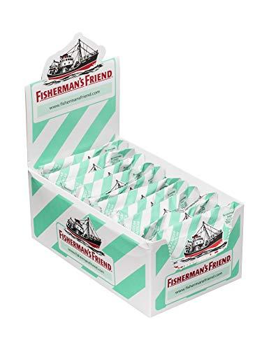 Fisherman's Friend Menta, Caramelo Comprimido Sin Azúcar - 12 unidades de 25 gr. (Total 300 gr.)
