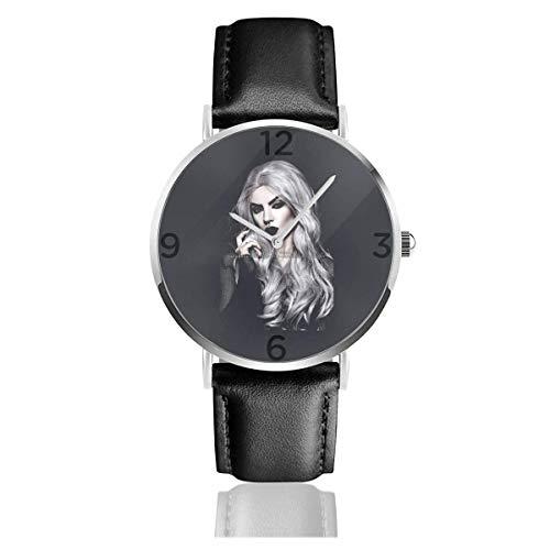 Payaso Herlay Qiunn Reloj PU Correa de Cuero Relojes de Pulsera para Hombres Mujeres