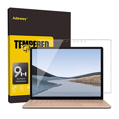 Adeway Displayschutzfolie aus gehärtetem Glas für Microsoft Surface Laptop 3, [Premium HD Clear] [Hohe Empfindlichkeit] [Kratzfest] - 15 Zoll 1875 Model