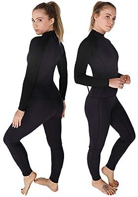 DEHAI Men Women's Full Wetsuits Thermal Suit Sleeves 3mm Neoprene Youth Adult's Diving Swimming Snorkeling Surfing Scuba Jumpsuit Warm Swimwear (Women's Fullsuit 2mm / Dark Blue, XS)