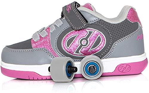 Heelys Plus X2, Color Rosa, Talla (36.5 EU, Pink and Grey)