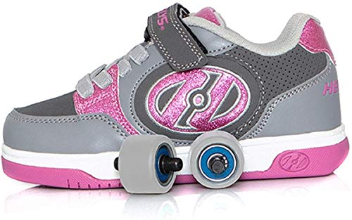 Heelys Plus X2, Color Rosa, Talla (33 EU, Pink and Grey)