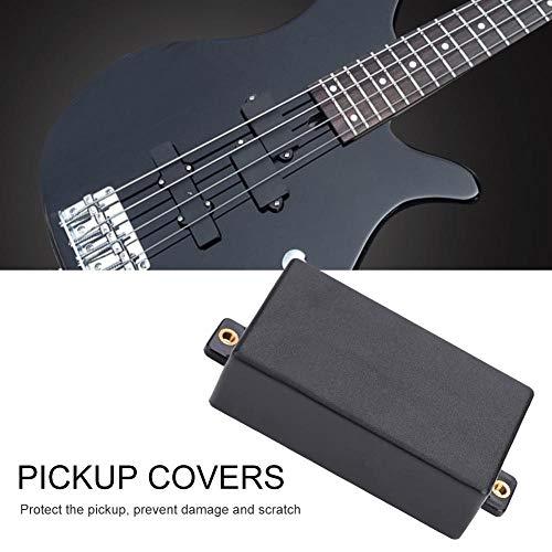 Dilwe 2 Pcs Humbucker Sellado Cubierta de Pastilla para Piezas de Repuesto de Guitarra Eléctrica(Negro)