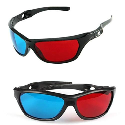 CULER Red-blue Cyan Anaglyph Simple Style 3d Glasses 3d Movie Game-extra Upgrade Style (2pcs
