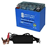 Mighty Max Battery YTX12-BS Gel Replacement Battery for Kymco 250 Mongoose, MXU All Years + 12V 2Amp Charger Brand Product