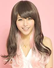 2014 Japanese Harajuku Style Big Wave of Fluffy Pink Gradient Color Long Hair Length 75cm