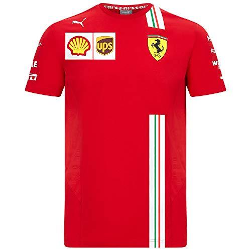 2020 Scuderia Ferrari F1 Team Camisetas Vettel Leclerc en tallas para hombre y mujer