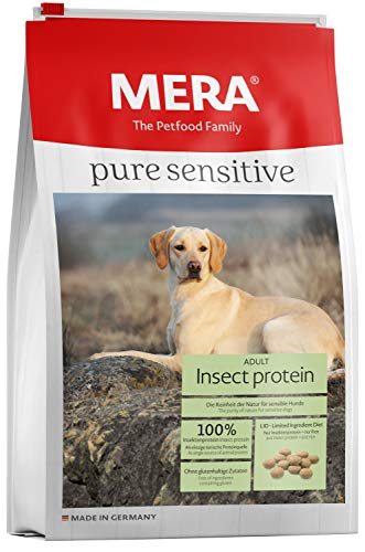 MERA Pure Sensitive Hundefutter > Insect Protein < Trockenfutter für Sensible Hunde - hypoallergen & umweltfreundlich - Single Protein Futter, 12.5 kg