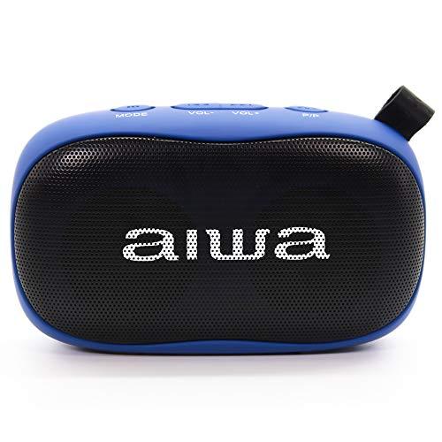Aiwa BS-110BL: Altavoz Bluetooth portátil, Resistente a la Humedad, pensado para Deportes...