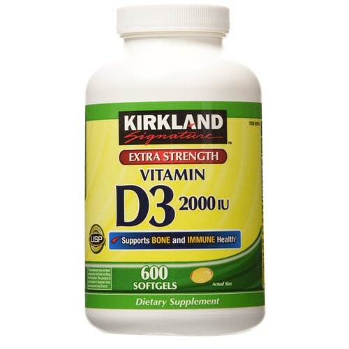 Kirkland Signature Vitamin D3 2000IU 600 Softgels
