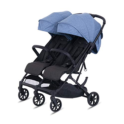 knorr-baby 888551 - Passeggino gemellare Twin-Easy-Fold, colore: Blu