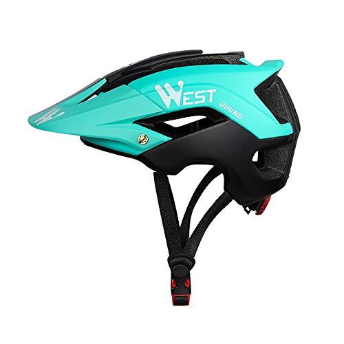 Zeroall Casco Bici Casco da Bicicletta Dimensioni Regolabili 56-62cm Donna Uomo Mountain Bike Helmet con Visiera Staccabile, Casco da Ciclismo per Scooter Skateboard Bicicletta(Nero Blu)