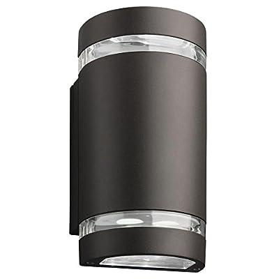 Lithonia Lighting OLLWU P1 40K 120 DDB M6 LED Outdoor Cylinder Up and Down Light, 120V, 4000K, 9W, Dark Bronze, Downlight