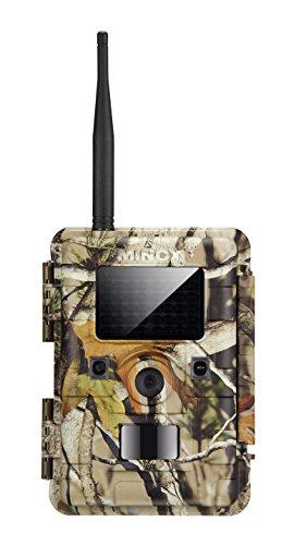 MINOX DTC 1100 Wild- und Überwachungskamera Camouflage – Outdoor-Kamera mit Multifunk-Datenübertragung der Videoaufnahmen, Farbaufnahmen und Schwarz-Weiß-Nachtbilder
