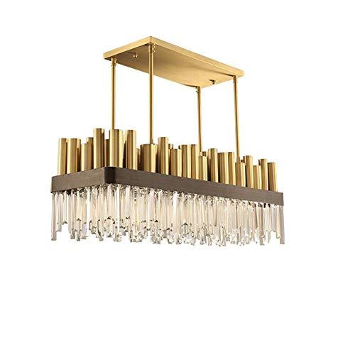 Light-GYH Moderne heldere kristallen bar rechthoekige regendruppels kroonluchter verlichting LED plafondlamp hanger voor eetkamer badkamer slaapkamer woonkamer g9 lampen nodig