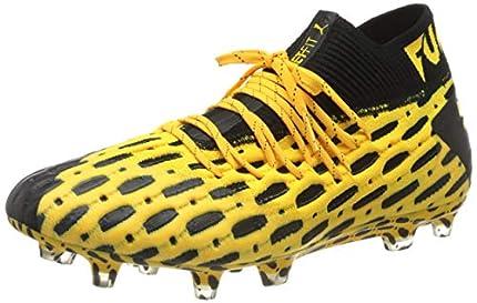 PUMA Future 5.1 Netfit FG/AG, Zapatillas de Fútbol Hombre, Amarillo (Ultra Yellow Black), 39 EU