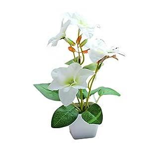 Silk Flower Arrangements Casol Artificial Flowers Pot, Fake Bonsai Plants for Home Wedding Office Restaurant Table Centerpieces Arrangement Decoration, White Bougainvillea