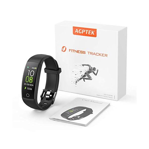 AGPTEK Pulsera de Actividad Inteligente, Reloj Deportivo Pantalla a Color IP67 Soporta GPS, Temporizador, Monitor de… 4