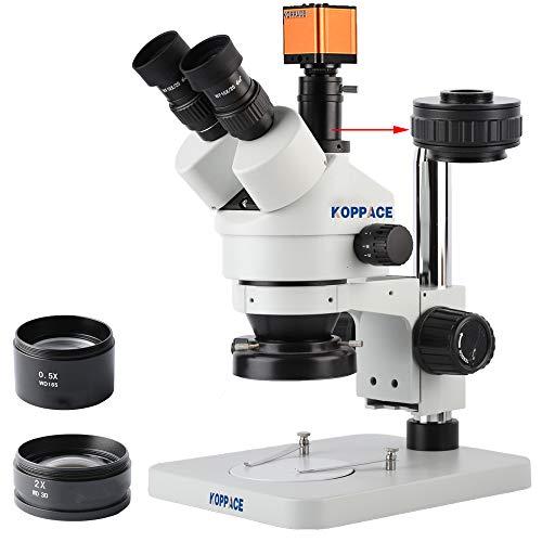 KOPPACE 3.5X-90X Stereo Video Microscope 16MP Full HD 1080P 60FPS HDMI Electronic Industry Digital Microscope Camera Mobile Phone Repair Microscope