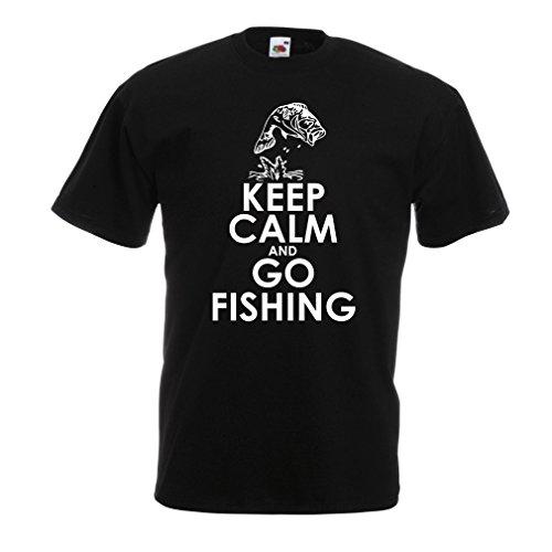 lepni.me Maglietta da Uomo Abbigliamento da Pesca Regalo di Pescatore Divertente Citazioni di Umorismo (Medium Nero Multicolore)