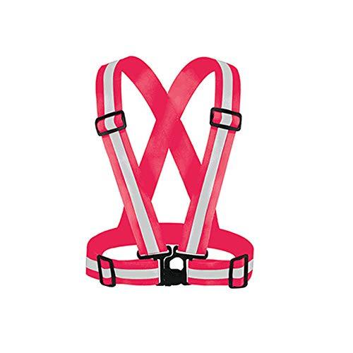 Mintice Reflecterende veiligheid Beveiliging Hoge Zichtbaarheid Vest Gear Stripe Jas Heldere Sport Taillejas Riem Body Hardloopslijtage Verstelbare Waarschuwing Roos
