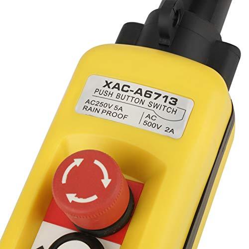 Uxsiya Control seguro del alzamiento de la grúa del sistema de control confiable plástico robusto del ABS para el alzamiento