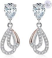 JRosee Swarovski 925 Sterling Silver Crystal Studs Earrings for Women Ladies Girl friend Gift JRosee Jewelry JR697