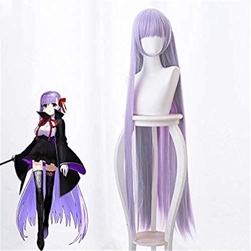 Anime Fate Extra CCC BB Cosplay peluca Byibyi accesorios de vestuario nias prpura 120 cm largo recto pelo sinttico pelucas de pelo sinttico