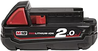 Milwaukee M18B2 M18 2.0Ah Lithium-Ion Battery - Red