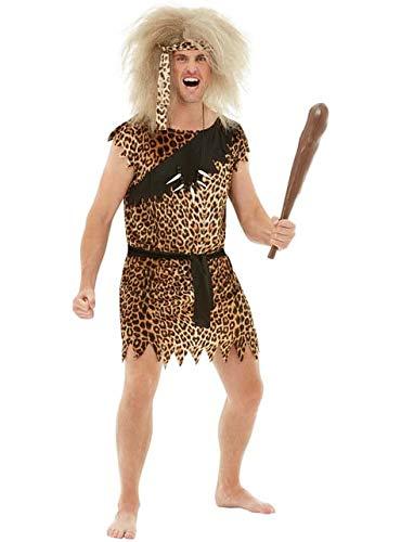 Funidelia | Disfraz de troglodita para Hombre Talla XXXL Troglodita, Edad de Piedra, Caverncolas, Prehistrico - Marrn