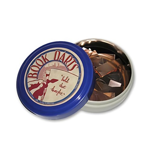 Book Darts Line Markers 125 Count Tin MIXed Metals