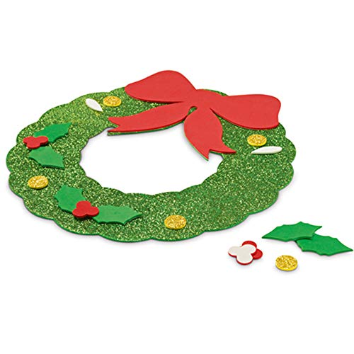 COSAS43 DETALLES PARA INVITADOS BODA-COMUNION-BAUTIZO Lote 100 Adornos guirnaldas navideños en Goma Eva, Puzzle, Regalos Baratos Infantiles, Regalos navideños guarderías, colegios