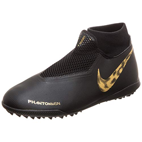 Nike Performance Phantom Vision Academy DF TF voetbalschoen heren zwart/goud, 9 US - 42.5 EU - 8 UK