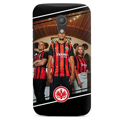 DeinDesign Premium Case kompatibel mit Motorola Moto G2 Smartphone Handyhülle Hülle matt Trikot Offizielles Lizenzprodukt Eintracht Frankfurt