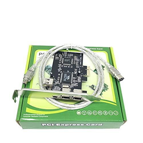 WEFH Tarjeta de Captura de Video PCI-E1394 Tarjeta de Captura HDMI Tarjeta de Captura PCI Express 1080P, Plateada y Negra