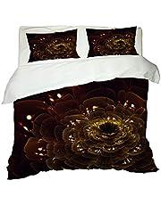 PerfeCTPOT sängkläder 140 x 200 blommor 3 delar påslakan med dragkedja 100 % polyester mikrofiber, 2 örngott 80 x 80 cm